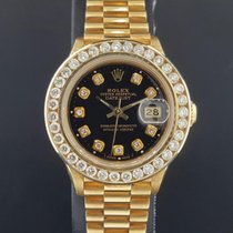 Rolex Lady President 26mm 18k Yellow Gold 2 CT Diamond Bezel +...