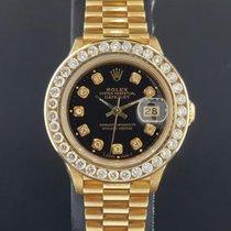 Rolex Lady President 26mm 18k Yellow Gold 2 CT Diamond Bezel +...