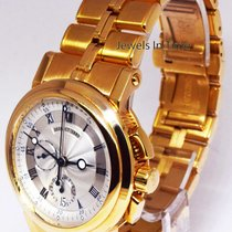Breguet Marine Chronograph 18k Yellow Gold Mens Bracelet Watch...