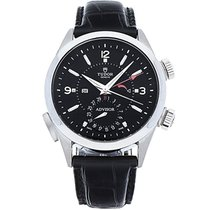 Tudor 79620TN-Black alligator strap Heritage Advisor in Steel...