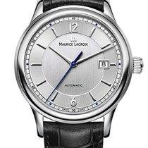 Maurice Lacroix Les Classique Date Silver Arabic Index Black...