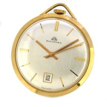 Carl F. Bucherer 18K Gold Pocket Watch, Three Hands w Date