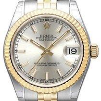 Rolex Datejust 31 Edelstahl Gelbgold 178273 Silber Jubile-Band