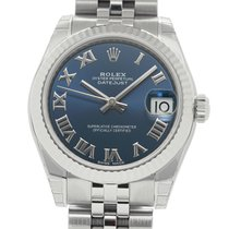 Rolex Datejust Stainless Steel 31mm Blue Roman Dial 18k White...