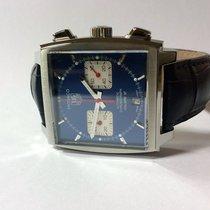 TAG Heuer Monaco Chronograph Calibre 12 Krokoband blau Occasion
