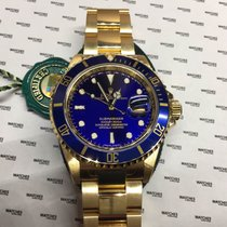 Rolex Submariner Yellow Gold Blue Dial - 16618