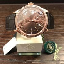 Rolex Cellini Dual  Time Rosegold Choco Dial 50525