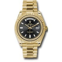 Rolex Day-Date 40 228238 18K Yellow Gold 40MM Black Dial, 10...