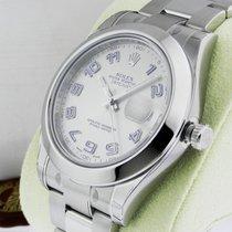 Rolex Datejust II 41mm Stainless Steel Blue Arabic Silver 116300