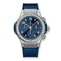 Hublot Big Bang Steel Blue Diamonds 41mm Ref 341.SX.7170.LR.1204