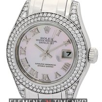 Rolex Datejust Pearlmaster 29mm 18k White Gold Diamond Bezel