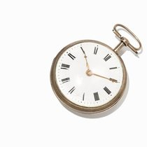 Men's Pocket Watch Made Of Silver