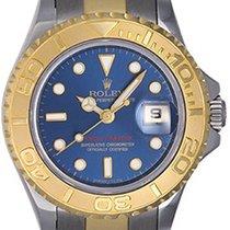 Rolex Ladies Yacht - Master Steel & Gold Watch 169623 Blue...