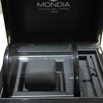 Mondia vintage wooden big watch box black with outer case