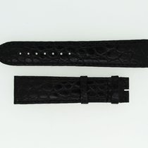 Cartier Krokolederband / Schwarz - 20,5 / 17,5 Länge 115 / 80