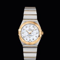 Omega CONSTELLATION QUARTZ 27 MM steel-yellow gold White Dial T
