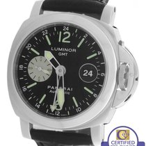 Panerai PAM 88 Luminor GMT Date Automatic Black 44mm Watch...