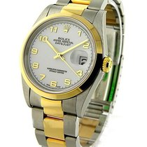 Rolex Unworn 116203 Mens 2-Tone Datejust with Oyster Bracelet...
