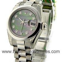 Rolex Unworn 179166_blk_mop_dd Ladys President in Platinum...