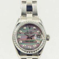 Rolex Datejust Tahitian MOP Diamond Dial Ladies Watch 26mm