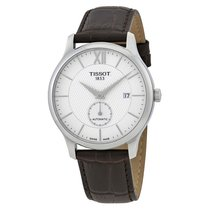 Tissot T-Classic Tradition Automatic Men's Brown Leather...
