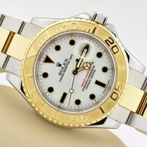 Rolex Yacht-master 18k Yellow Gold Stainless Steel White Dial...