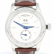 Armand Nicolet Tramalen Watch Steel Leather Big Date Automatic...