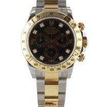 Rolex Daytona In Acciaio E Oro Giallo 18kt E Diamanti Ref. 116523