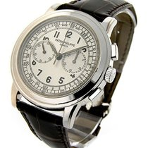 Patek Philippe 5070G 5070G Chronograph - White Gold on Leather...
