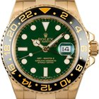 Rolex GMT MASTER II YELLOW GOLD GREEN DIAL