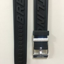 Breitling Black Rubber Strap With Buckle 22 x 20 mm