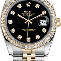 Rolex Oyster Datejust 36mm Steel and Yellow Gold 116243 bkdj