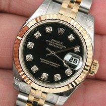 Rolex Datejust Black Diamond Dial 179173 Jubilee Bracele