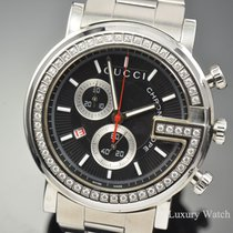 Gucci G-Chrono XL Diamond Bezel Steel Quartz 101M YA101324