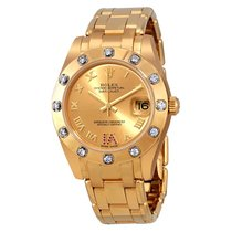 Rolex Pearlmaster Champage Dial Diamond Ladies Watch