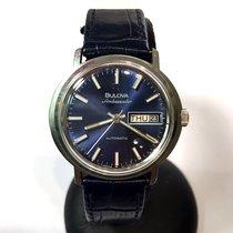 Bulova Ambassador Automatic Steel Men's Watch W Blue Dial...