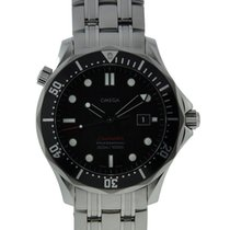 Omega Seamaster 300m Stainless Steel Black Dial On Stainless...
