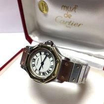 Cartier Santos Octagon 18k Gold & Stainless Steel Ladies...