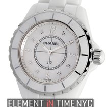 Chanel J12 White Ceramic Mother Of Pearl Diamond Dial Quartz