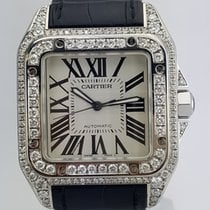 Cartier Santos 100 Large Diamond Case and Bezel REF: W20073X8...