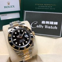 勞力士 (Rolex) Cally - 116613LN Submariner Date Black Gold Steel...