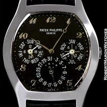 Patek Philippe 5041 18k White Gold Tonneau Automatic Perpetual...
