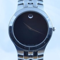Movado Museum Herren Watch Uhr Rar Stahl Top Quartz 36mm