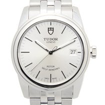 Tudor New  Glamour Date Stainless Steel Silver Automatic...