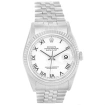 Rolex Datejust Steel White Gold Roman Dial Automatic Mens...