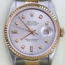 Rolex Datejust Two Tone 18k Gold Stainless Steel Watch Silver...