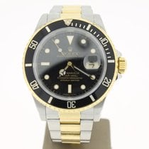 Rolex Submariner Steel/Gold Black Dial 40mm (B&P1990) MINT