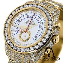Rolex Diamond Rolex Watch Yacht-master Ii 116688 18k Yellow...