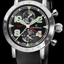Chronoswiss Timemaster Chronograph GMT Steel Black/Green Dial...
