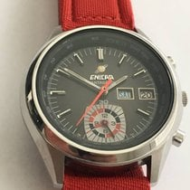 Enicar Round Case Stainless Steel Mantagraph Chrono, Very Rare